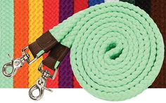 Flat Plaited Cotton Roping or Contest Reins | ChickSaddlery.com
