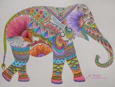 Here I Go Again: Stabilo and a Millie Marotta elephant
