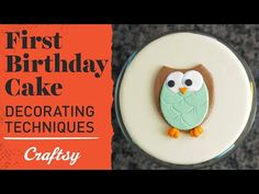 Video tutorial: 1st Birthday Cake Ideas | Fondant Cake Decorating. Use tools you already have to shape a fun fondant owl - then, make a matching smash cake for a memorable photo shoot. Watch the full video and subscribe for more!