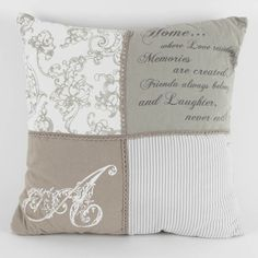 #Romantic style fabric pillow. Isn't this beautiful? View more #pillows and #cushions at http://www.inart.com/en/products/fabric-items/pillows