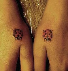 Lady bugs tattoo @Brooke Baird Baird Baird Baird (Rane) LaBarge