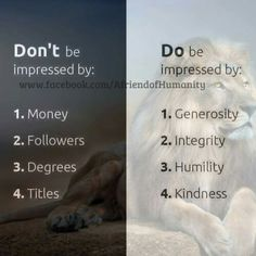 Don't be & do be impressed by ..