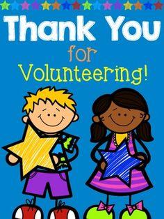 FREEBIE Thank You for Volunteering!