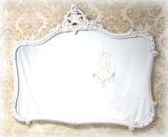 LARGE FRENCH COUNTRY Mirror For Sale Long White by RevivedVintage, $325.00
