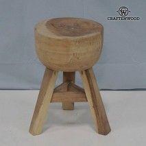 Taburete de madera jaap by Craftenwood