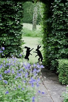Love this. Bronze Sculpture - Pair Of Boxing Hares