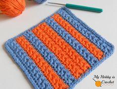 My Hobby Is Crochet: Crochet Star Stitch Variation - Star Stitch Baby Washcloth / Dishcloth – Free Crochet Pattern with Tutorial