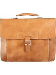 Scully Leather H268 Flapover Buckle Briefcase-also holds laptop