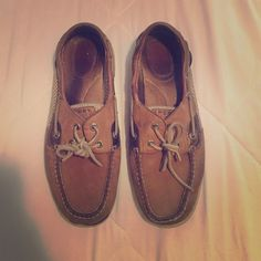 Sperrys Make an offer and we'll see what we can do!  Sperrys size 9.5! Still in pretty good condition. Sperry Top-Sider Shoes Flats & Loafers