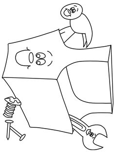 Construction Tools » Coloring Pages » Surfnetkids