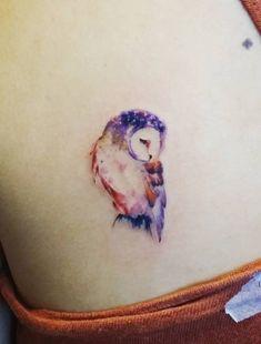 Owl Tattoo by Jay Shin