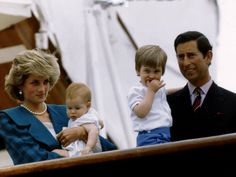 Charles and Diana and Boys