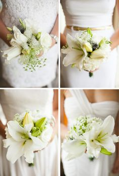 White bms with white flowers - weddings by sasha gulish