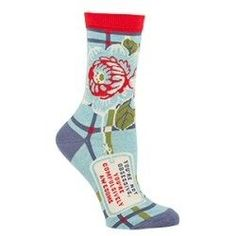 Blue Q Socks You're Not Obsessive, You're Compulsively Awesome