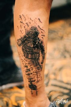 "Képtalálat a következőre: ""diving tattoos"" Dove Tattoos, Leg Tattoos, Body Art Tattoos, Sleeve Tattoos, Tattoos For Guys, Astronaut Tattoo, Octopus Tattoos, Shark Tattoos, Scuba Diver Tattoo"