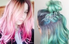 Color-Melting Is the New Dyeing Technique You Need to Know About Hair Color For Fair Skin, Hair Color Purple, Hair Colours, Pink Purple, Colors, Hair Color Highlights, Hair Color Balayage, Color Melting Hair, Beauty