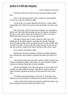 1 - História João e o Pé de Feijão