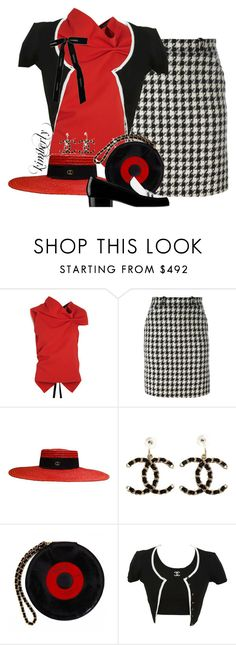 """""""Roland Mouret Eugene and Chanel"""" by cavell ❤ liked on Polyvore featuring Roland Mouret, Chanel and Gucci"""
