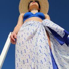 Beach Wrap | The Blue White $70.00