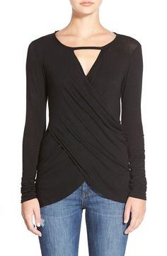 90a67ae316a8 Velvet by Graham   Spencer Wrap Front Knit Top available at  Nordstrom  Nordstrom