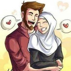 In Islam, Nikah is completing half your deen and is a strongest bond between husband and wife but some people don't share the same views who have lost faith be. Couples Musulmans, Vieux Couples, Cute Muslim Couples, Anime Couples, Wedding Couples, Wedding Couple Cartoon, Cute Couple Cartoon, Cute Couple Art, Couple Pics