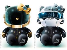 Haha!! Hello Kitty Daft Punk dolls. I can only imagine how much those cost.