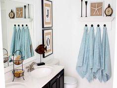 Bathroom Décor: Quick Bathroom Decorating on a Budget • Tips  Ideas! Photo by Sand and Sisal.