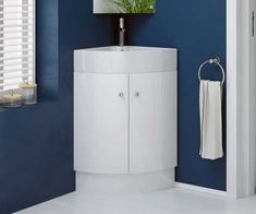 Corner Vanity Unit And Sink . rivera white cloakroom freestanding corner vanity unit with basin PCCTHVX - Kitchen Ideas Bathroom Corner Unit, Corner Vanity Unit, Corner Toilet, Small Bathroom, Bathroom Ideas, Shower Ideas, Bathrooms, Basin Vanity Unit, Bathroom Vanity Units