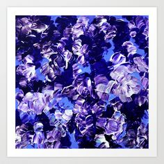 FLORAL FANTASY 2 Bold  Blue Lavender Purple Abstract Flowers Acrylic Textural Painting Garden Art Art Print by EbiEmporium - $20.00 #navyblue #indigo #abstract #painting #fineart #art #floral #flowers #blue #periwinkle #purple #lilac #lavender #feminine #whimsical #modern #chic #girlie #elegant #boldcolors #colorful #contemporary #garden #bouquet #summer #stylish