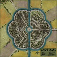 circular city map - Google Search
