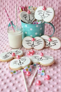 Funny Bunny Cookies~Four Ways by Munchkin Munchies.