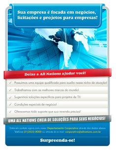 E-mail marketing institucional para a empresa All Nations.