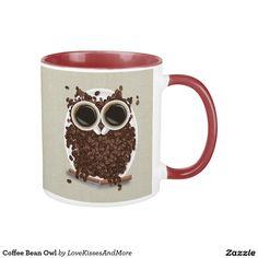 Coffee Bean Owl Mug