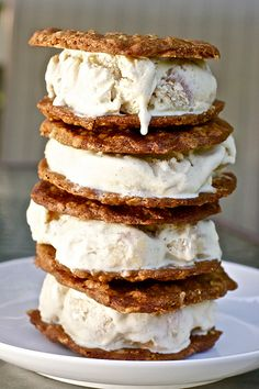 Roasted Peach Ice Cream Sandwiches by Smells Like Home, via Flickr
