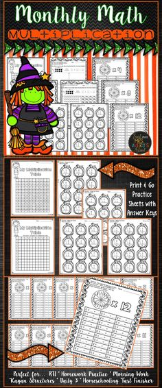 This Halloween themed multiplication packet is full of B & W, no prep printables and will provide your students practice to build fluency with facts from 0-12! Perfect for morning work, RTI, math centers, Daily 3, fast finisher activities, homework practice, or homeschooling during the month of October!