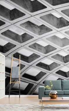 Some of the world's best known brutalist buildings have been turned intowallpaper designs, including a London car park anda Rio de Janeiro cathedral