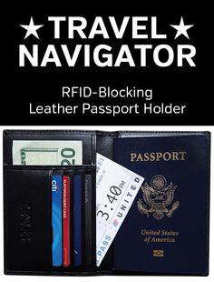 Christmas Tree Skirt Leather Passport Holder Cover Case Blocking Travel Wallet