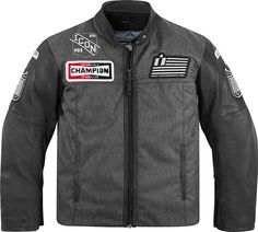 One of the highlights of the new @Icon Motosports collection is the Vigilante Dropout jacket. Chenille embroidered patches—the same style used on letterman jackets—emblazon the chest of the Dropout. Patched Icon 1000 sleeve graphics are layered into full-grain leather sleeves, and D3O elbow, shoulder and back impact protectors are included.