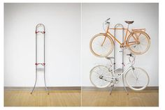 しなやかなラインでさっぱりしている自転車ラック | roomie