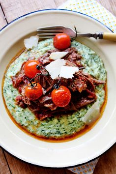 Slow Roasted Italian-style Lamb with Spinach Polenta – a perfect recipe for the pairing of the tastiest ingredients!