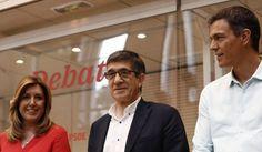 Pedro Sánchez, Susana Díaz y Patxi López valoran el debate
