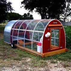 Mobile Chicken Coop #chickencoopdiy #ChickenCoopPlans