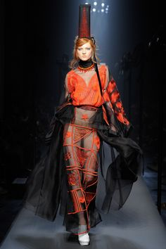The Jean Paul Gaultier Haute Couture F/W 2015 show was all about a playfully severe nautical theme. See the Jean Paul Gaultier Haute Couture F/W 2015 show below: Fashion Week, Love Fashion, Fashion Show, Fashion 2015, Style Fashion, Josephine Baker, Style Couture, Couture Fashion, Mode Costume
