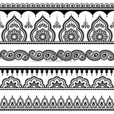 Mehndi, Indian Henna Tattoo nahtlose Muster, Design-Elemente photo