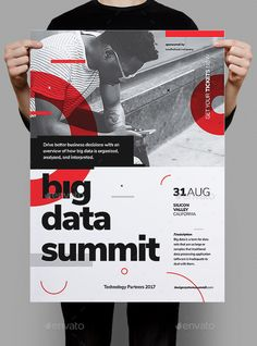 Big Data Conference Poster / Flyer Template PSD