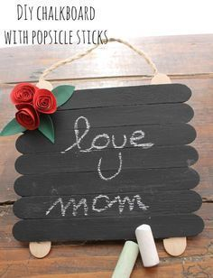 Mothers Day kids crafts I Love Ideas - mothers day crafts for kids Easy - Muttertag Diy Mother's Day Crafts, Mother's Day Diy, Craft Stick Crafts, Preschool Crafts, Craft Gifts, Crafts To Make, Diy Gifts, Homemade Gifts, Kids Birthday Crafts