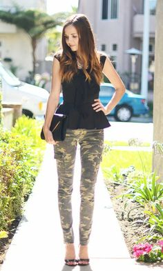 6 Ways to Style Camouflage Pants. Love my camo pants!