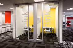 """This is part of eBay's Workplace Initiative. It's a perfect example of the concept of """"visual transparency, acoustic privacy""""."""