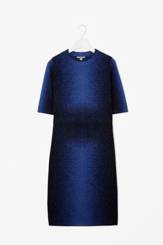 COS is a contemporary fashion brand offering reinvented classics and wardrobe essentials made to last beyond the season, inspired by art and design. Work Wardrobe, Wardrobe Ideas, Jacquard Dress, Blue Wool, Contemporary Fashion, Casual Dresses, Workwear Dresses, Fashion Brand, Fashion Styles