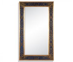 small rushmore Rectangular mirror with gilt Renaissance decoration (Azure)